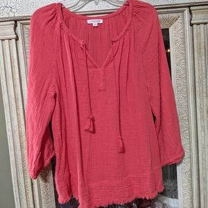 Beach Lunch Lounge Peasant Top Boho Tunic Top SM